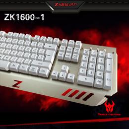 磁动力键盘zk1600-1金属网吧游戏网咖专用