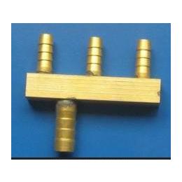 供应上海三盛,水地暖用二级分水器,三合一接头,OEM铜件,阀门