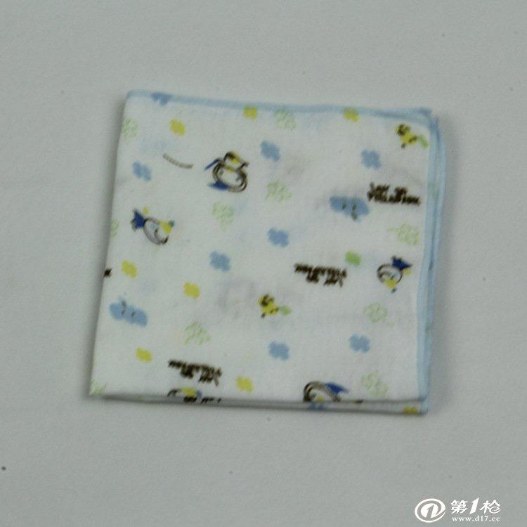纯棉双层纱布印花手帕