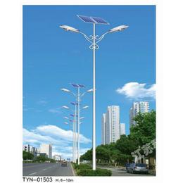 路灯厂直销江苏科尼牌6-8米单双臂太阳能路灯