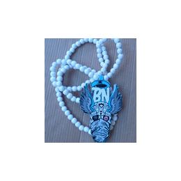 厂家直销骷髅头木珠项链