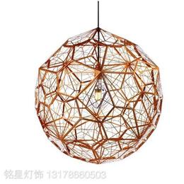 球形钻石球吊灯后现代创意阴影餐厅金色吊灯客厅酒吧灯