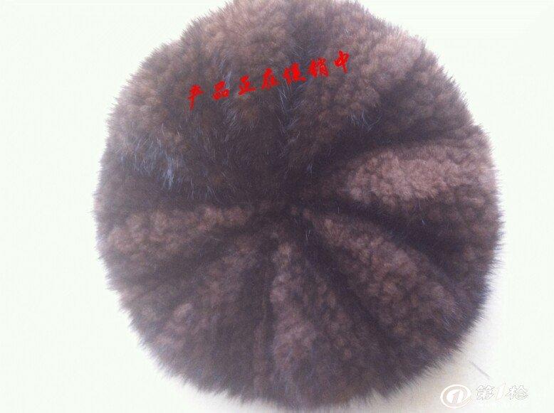 水貂编织八角帽咖啡色4bjm-k_副本 - 复件