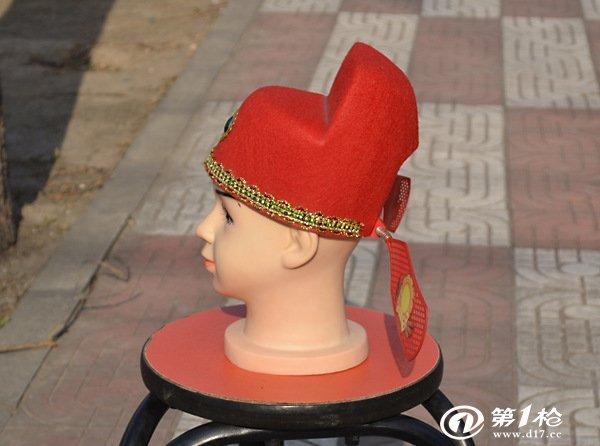 厂家直销乌纱帽(红)/县官帽/状元帽/戏剧道具/儿童帽