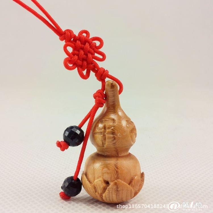 批发 桃木葫芦手机挂件 莲花葫芦手机链 佛教用品2000079