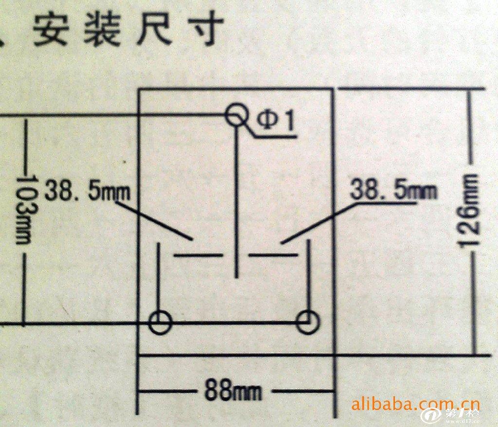 安装尺寸和接线图