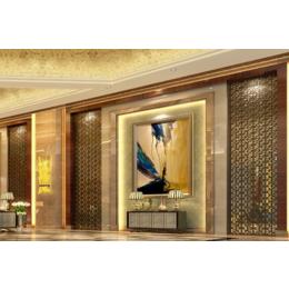 酒店大堂仿红古铜不锈钢装饰屏风