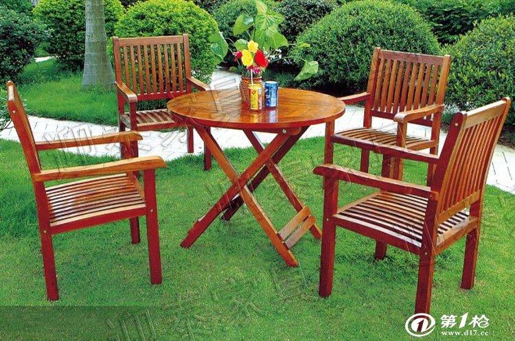 ytb-218山樟木休闲家具 一桌四椅 户外家具户 外实木桌椅休闲桌椅