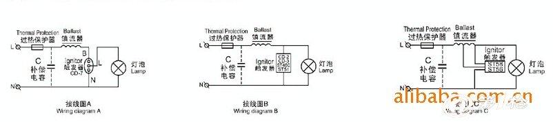 此电子触发器主要用于高压钠灯,金属卤化物灯及其其他类型气体放电灯