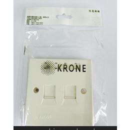 ADC KRONE原装双口面板(带防尘盖)