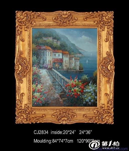 厂家出口欧式实木油画相框批发|古典风景油画框|60x90