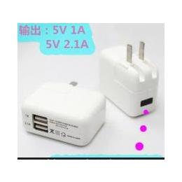 双usb<em>手机充电器</em> 欧规充电器5V2A 充电插头 <em>旅行</em>便携直充电头批发