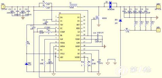 150W 大功率升压 LED 汽车灯方案 AP25SY 概述 AP25SY是一款外置NMOS,高效率,高精度的升压型大功率LED 灯恒流驱动控制芯片。AP25SY是固定工作频率控制电路,恒流驱动电路等,适合大功率,多个高亮度LED 灯串的恒流驱动。最大输入电流高达15A。 AP25SY通过调节外置的电流采样电阻,能控制高亮度LED 灯的驱动电流,输出最大电流可以做到6A。 AP25SY采用固定工作频率控制方式,其工作频率可通过外部电阻设定。电流模式控制和外部补偿网络使系统稳定、灵活、方便。 特点  2.