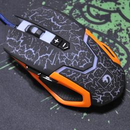 新盟M381DIY自定义炼狱狂蛇2代CF电竞有线游戏鼠标发光
