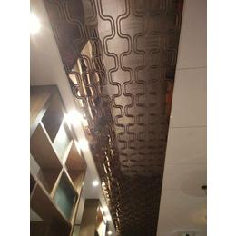 厂家直销茶色不锈钢天花吊顶 镜面茶色不锈钢花格集成吊顶定制