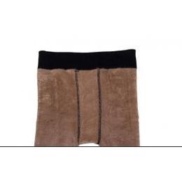 女款透肤网眼单层加绒加厚保暖裤一体裤保暖裤女大号踩脚打底裤