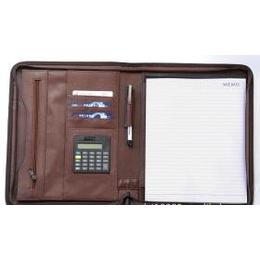 供应带计算机带笔PU皮封面的活页万用手册.拉链包