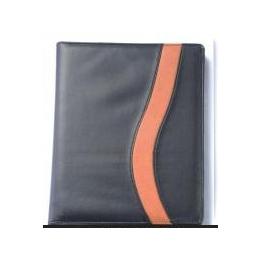 供应带计算机带笔PU皮封面的活页万用手册、拉链包