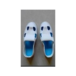 防静电手工SPU四眼鞋 无尘鞋防护鞋冷粘有鞋垫 厚底PVC防臭四孔鞋