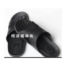 SPU防静电拖鞋 无尘净化拖鞋 黑色ESD 防滑劳保鞋工作鞋 静电拖鞋