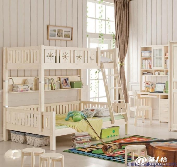供应上下铺床实木儿童床高低子母床梯柜床欧式高档