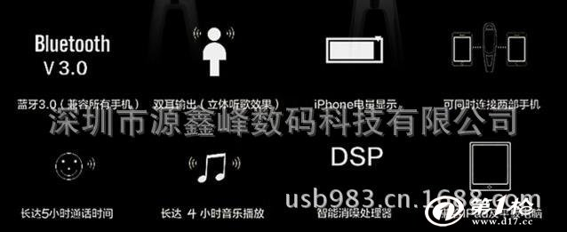 三星 苹果htc小米 iphone4无线手机立体声通用耳挂型蓝牙耳机工厂