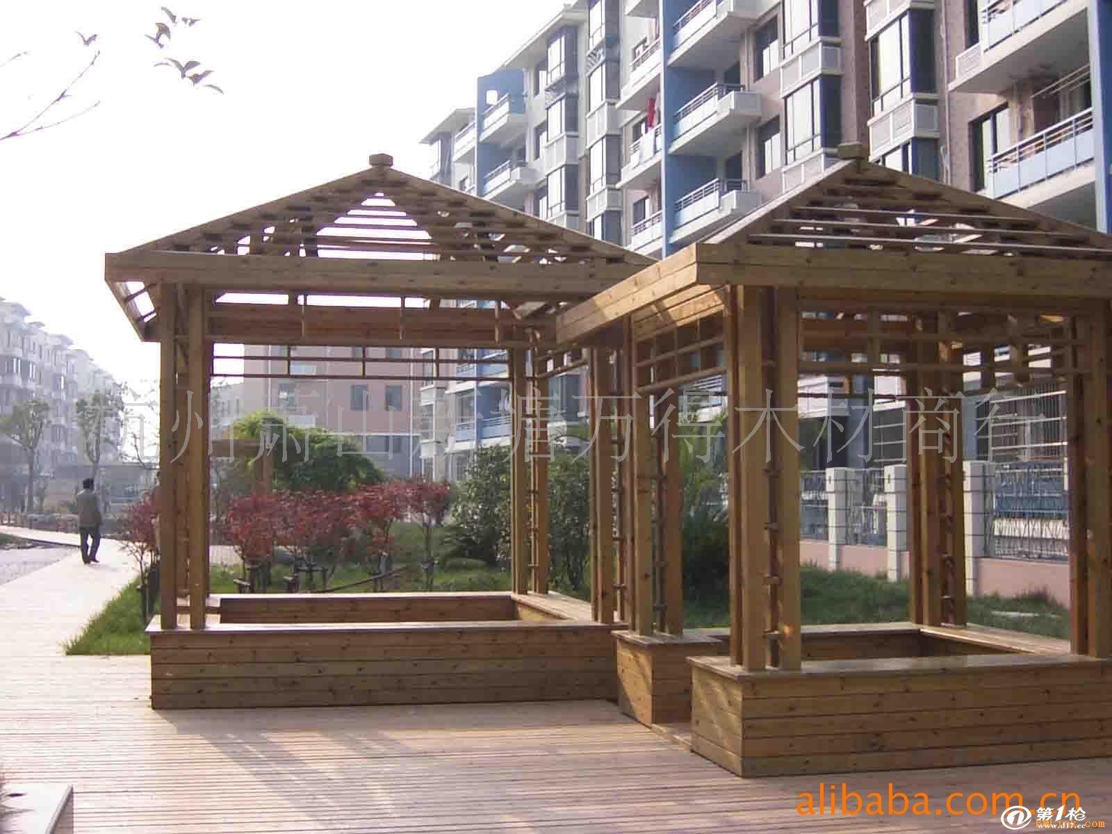 建材与装饰材料 木材和竹材 木板材 其他木板材 樟子松防腐木 凉亭