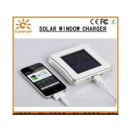 专利正品新款便携户外方形太阳能吸窗式移动电源 充电宝生产厂家