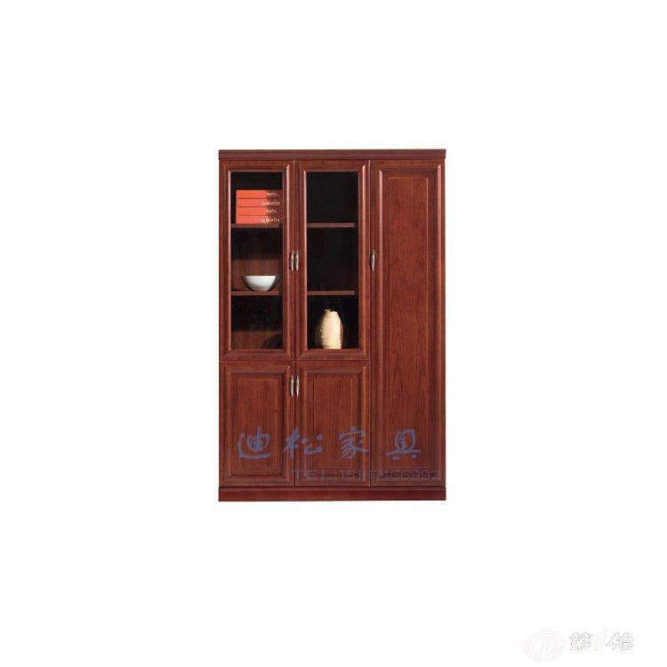 迪松商业办公家具胡桃木两门文件柜 可组合柜子实木油漆档案柜003