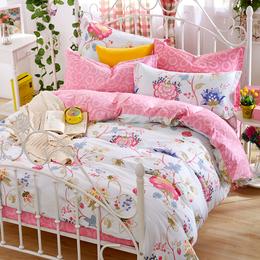 秋冬纯棉全棉加厚磨毛四件套 家纺保暖床单被套 床上用品批发