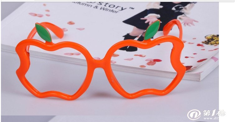 批发儿童装饰眼镜框架 苹果造型小孩眼镜框时尚可爱宝宝眼镜架潮