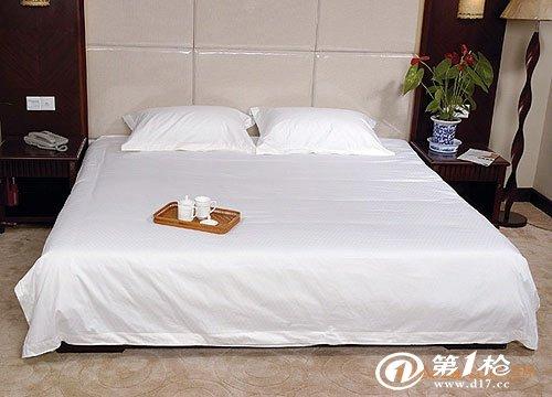 供应宾馆酒店床上用品四件套40支纯白全棉床单被套枕头套