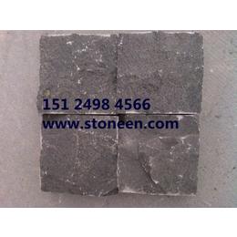 供应中国黑蒙古黑 马蹄石 斧凿面 自然面