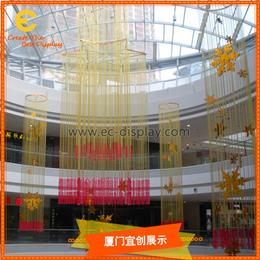 供应商场开业美陈吊挂道具定制与酒店空间装饰道具制作缩略图