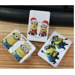 创意卡通奶爸造型 礼品mp3 夹小黄人MP3批发 插卡mp3