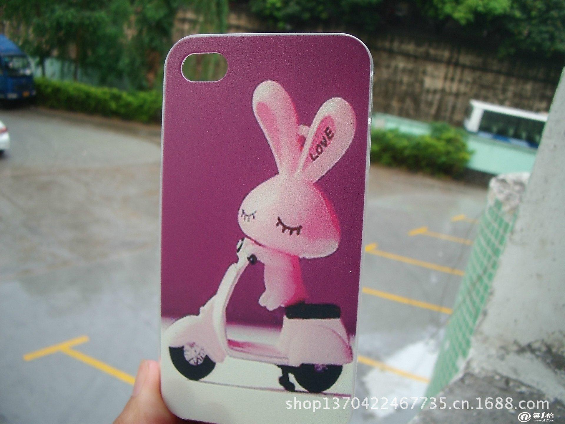可爱的小兔子iphone4/4s手机保护壳批发厂家直销卡通