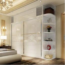 和祥家居简约时尚推拉门衣柜  钢化玻璃柜门