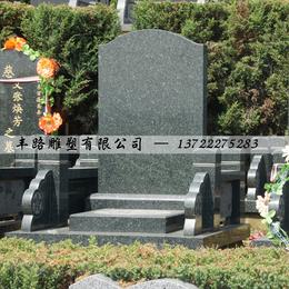 河北墓碑加工 中国黑花岗岩墓碑直角碑