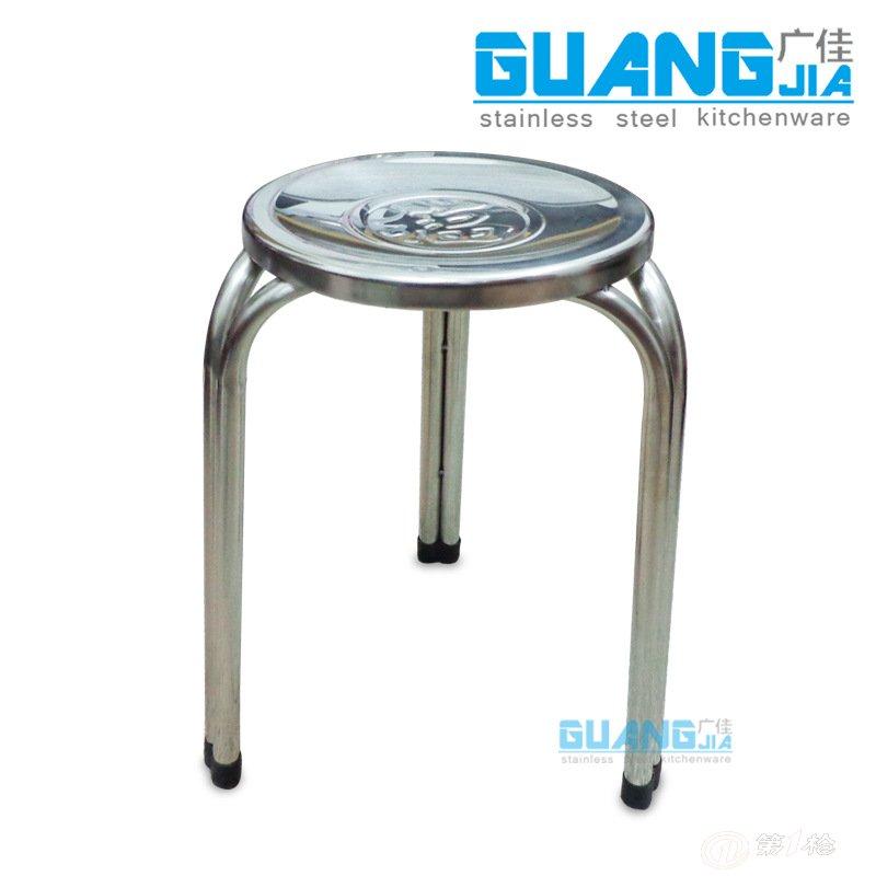 无磁不锈钢圆凳椅子员工凳子饭堂凳子学生餐椅30cm42cm47cm图片