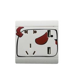 厂家直供二三插五孔USB墙壁插座酒店家用双USB可爱十二生肖