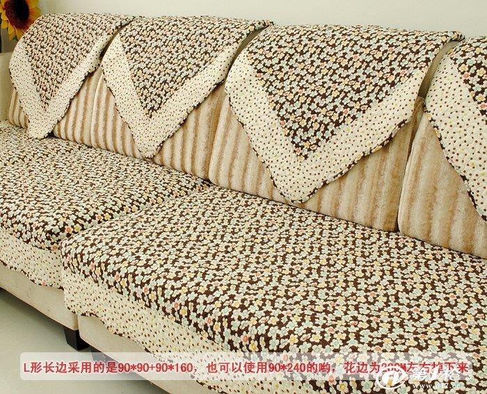 恒艺家纺 127印花布艺皮沙发垫坐垫欧式全棉绗缝沙发套沙发巾批发