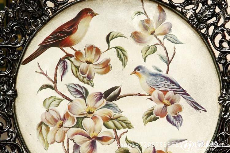 家居饰品新房客厅装饰盘摆件 陶瓷工艺品摆设欧式装饰