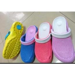 EVA033女式洞洞鞋 双层双色密孔花园鞋 EVA休闲沙滩鞋 厂家直销
