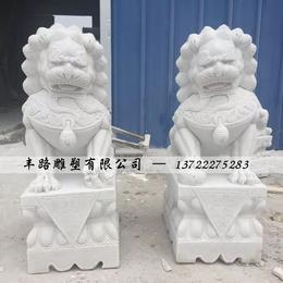 石雕石狮子一对景观雕塑
