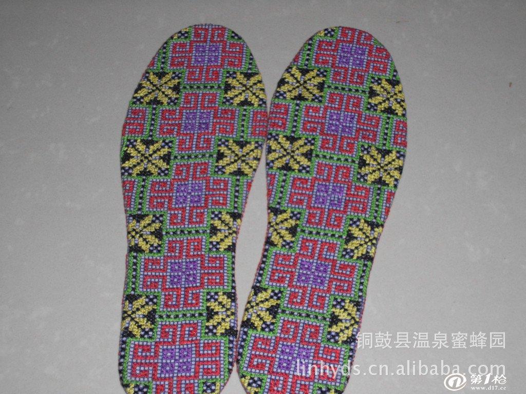 纯手工十字绣鞋垫梅花点点自产妈妈做的保健吸汗除臭手工制品