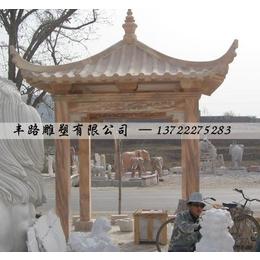 石雕大理石中式四角凉亭景观雕塑缩略图