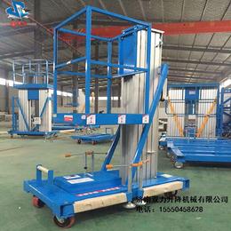 济南双力铝合金移动式升降平台单柱6米移动升降机货梯