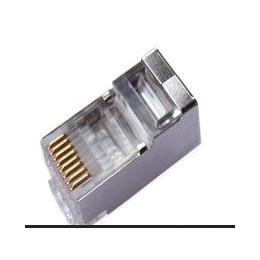 高质量 RJ45水晶头 超五类 屏蔽水晶头 网络水晶头 铁壳水晶头
