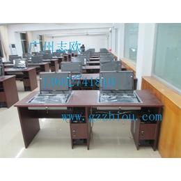 翻盖电脑桌|志欧(优质商家)|学校双人翻盖电脑桌