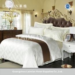 莱棉米色纯棉60S提花2016新款宾馆酒店床上用品四件套批发